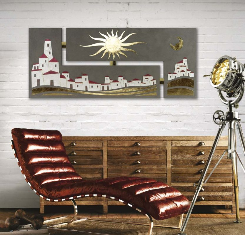 Parete Soggiorno Borgo : Pannelli decorativi artitalia deco lavorazioni foglia