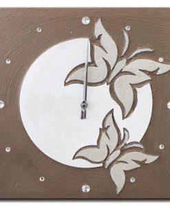 Tema in rilievo - Decori materici - Cristalli - Dettagli glitter color argento (movimento al quarzo)