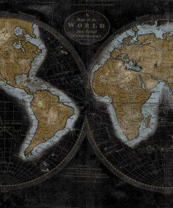 Dipinto delle due facce della terra