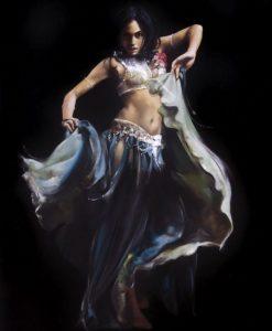 Dipinto di una sensuale danzatrice del ventre