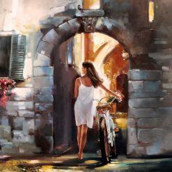 Una ragazza e la sua bici