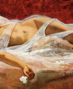 Donna seducente addormentata