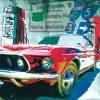 Fumetto colorato di una automobile sportiva