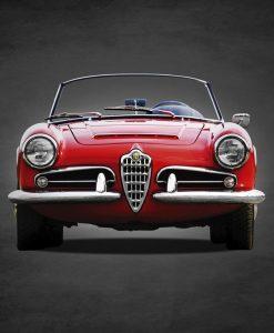 Dipinto di un'Alfa Romeo Giulia Spider