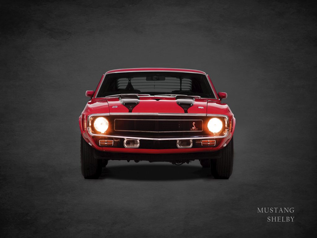 Dipinto di una ford mustang shelby
