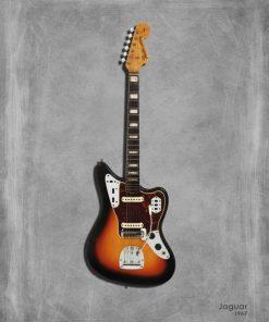 Dipinto di una chitarra elettrica Jaguar 67