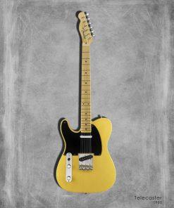 Dipinto di una chitarra elettrica Telecaster 52