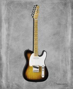 Dipinto di una chitarra elettrica Telecaster 58