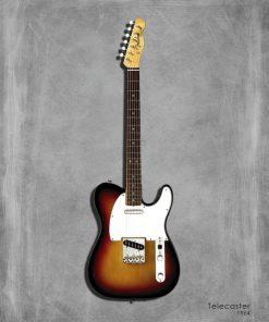 Dipinto di una chitarra elettrica Telecaster 64