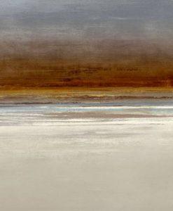 Dipinto astratto dell'orizzonte marino