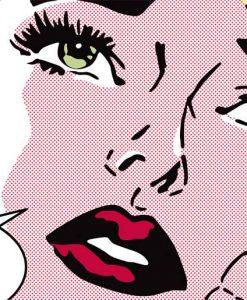 Donna in stile fumetto pop-art