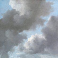 Studio di vaporose nuvole color grigio