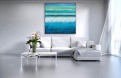 Ambientazione Dipinto astratto dell'acqua