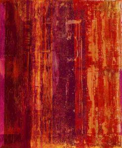 Dipinto astratto dai colori caldi