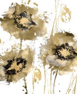 Dipinto di un fiore astratto con effetto schizzo