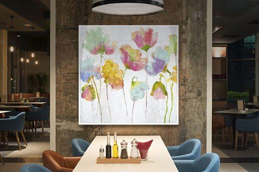 Fiori di campo dipinti con sfumature multicolore