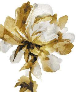 Sagoma dipinta di un fiore oro e grigio