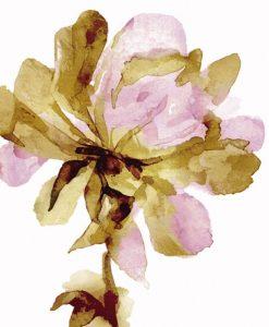 Sagoma dipinta di un fiore oro e rosa