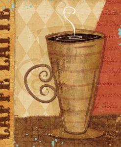 Tazza di caffè latte briosa