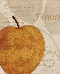 Illustrazione di una mela in stile elegante
