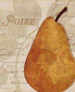 Illustrazione di una pera in stile elegante