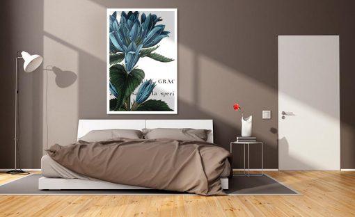 Ambientazione illustrazione botanica di una campanula
