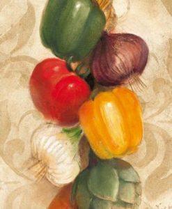 Grappolo di verdure appeso al muro