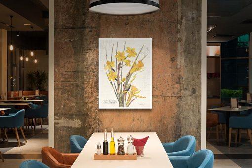 Ambientazione Illustrazione vintage narciso