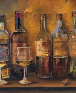 Scelta di vini rossi di una cantina