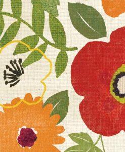 Composizione floreale grafica e di diversi colori