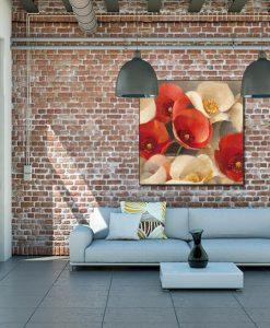 Papaveri rossi e bianchi in stile classico