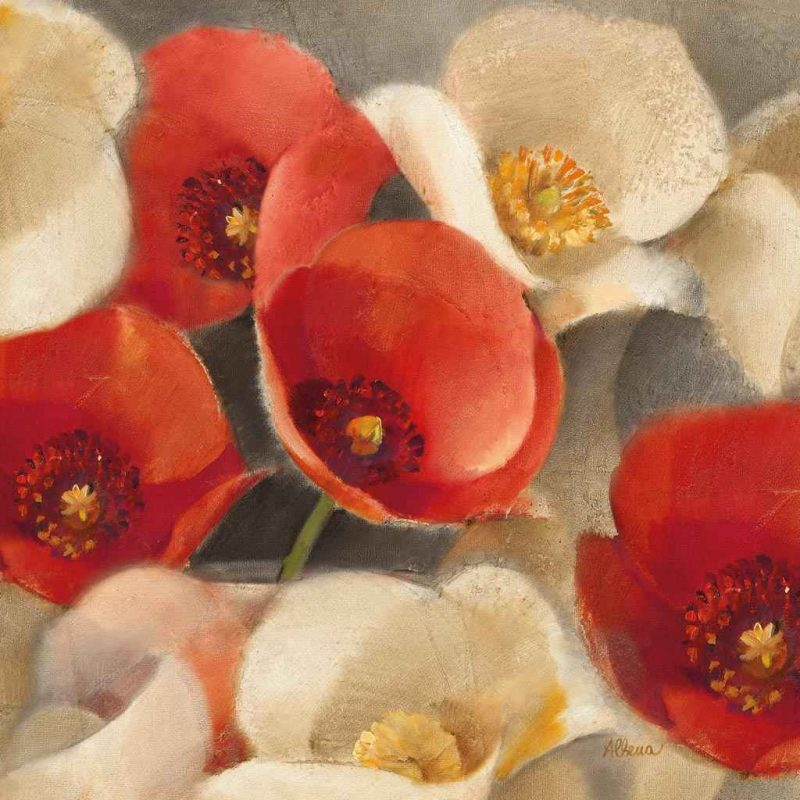 Albena Hristova - Poppies Bloom II - ART+PLUS vendita stampe su tela ...