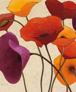 Illustrazione di fiori di campo con uno stile quasi fumettistico