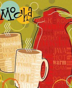 Composizione a tema caffè funky e vivaci
