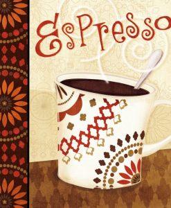 Tazza di espresso in stile etnico