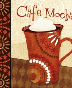 Tazza di caffè moka in stile etnico