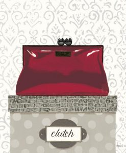 Clutch chic rossa