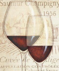 Bicchieri con vino rosso