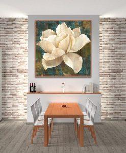 Ambientazione Fiore bianco in stile antico