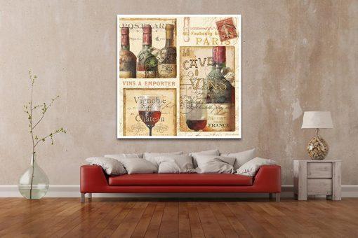 """Cartolina con composizione a tema """"vino"""""""