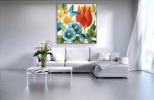 Ambientazione soggiorno Fiori decorativi