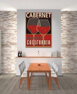 Illustrazione grafica vino Cabernet