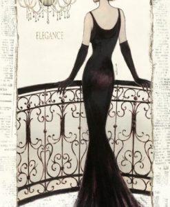 Ragazza in un abito da sera nero