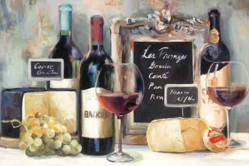 Degustazione di vino rosso e formaggi