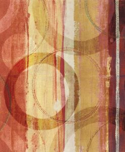 Dipinto etnico con strisce di vari colori e anelli
