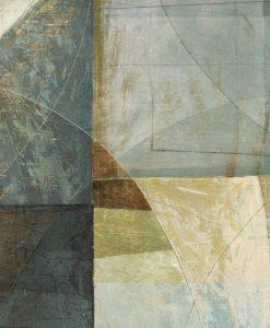 Dipinto astratto con linee geometriche