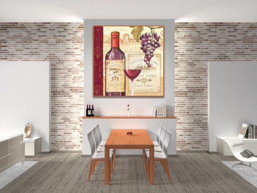 Etichetta vino rosso tradizionale