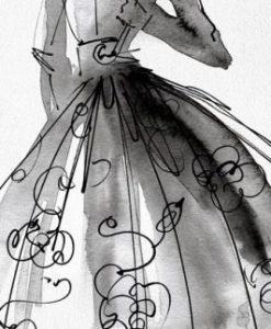 Schizzo di un capo d'abbigliamento