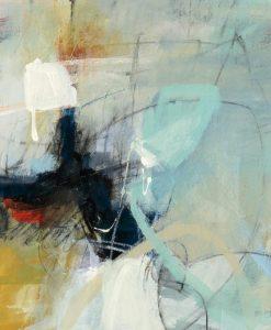 Dipinto astratto con sfumature di turchese