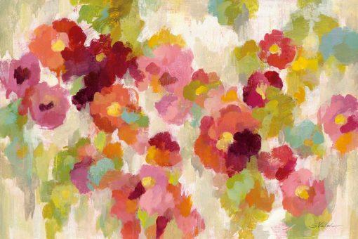 Fiori astratti arancio e rosa